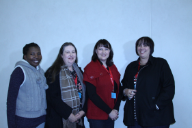 Tweeters and guest bloggers at the conference - Faith Zalekeli , Lydia Creamer, Danielle Botha and Carmen Davies